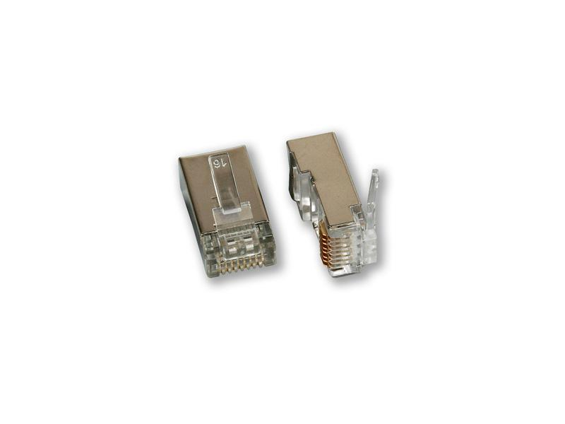 MP-030 C5E/S, konektor CAT5E 8P8C/stíněný - balení 10ks