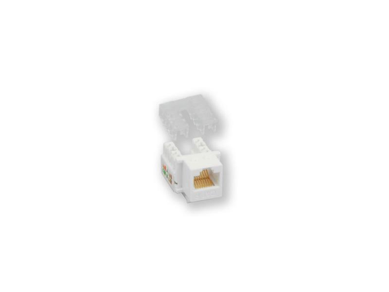 KJ-009 UPD/C6, horní osazování, CAT.6, bílá/černá