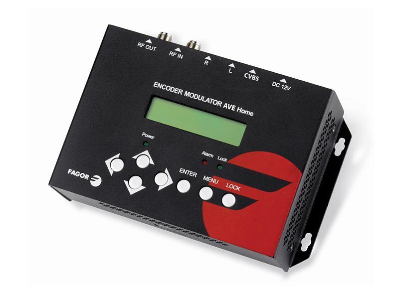 AVE Home, digitální DVB-T modulátor pro převod A/V signálu do TV pásma, Fagor