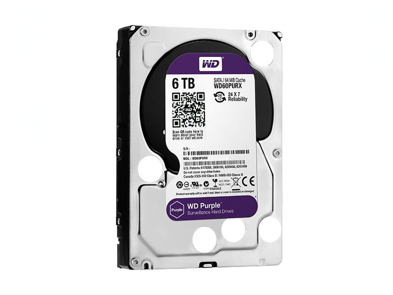 HDD-6TB, WD Purple 6000GB, 64MB cache, WD60PURX, Western Digital