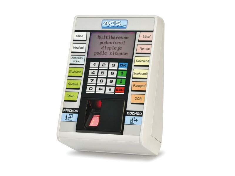 FT500F-TCP, docházkový terminál na otisk prstu (LAN)