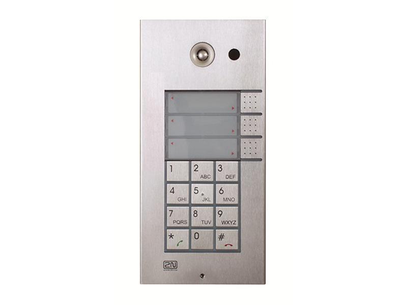 9137131CKU, 2N Helios IP Vario, 3x1 tlačítko + kamera + klávesnice