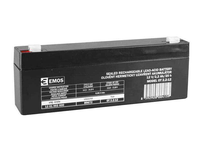 Akumulátor 12V / 2.2Ah, rozměr: DxŠxV = 178x35x66 mm