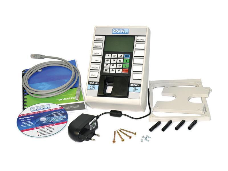 KIT-F-TCP, docházkový balík pro 100 uživatelů, připojení LAN, otisk prstu