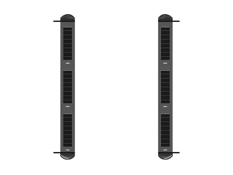 SA-W001P6, bezdrátová infrabariéra se 6 senzory a integrovanou sirénou, System Alarm