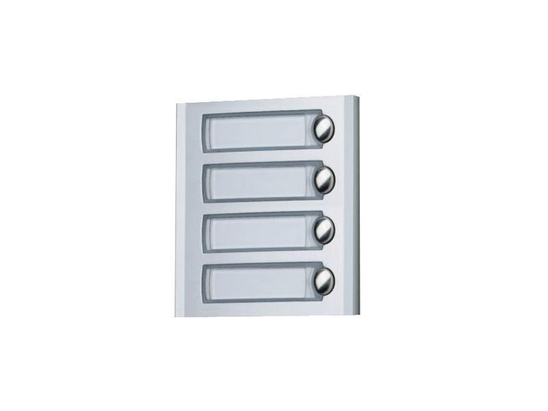 PL24, modul se čtyřmi tlačítky, podsvětlení jmenovek LED diodami, série Profilo