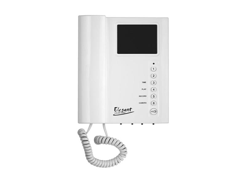 4FP 211 05.201, Domácí telefon BUS Color Videotelefon ELEGANT (bílý) s pamětí obrazu