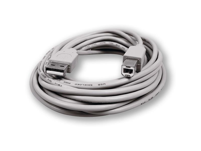 UC-305 AM-BM B2.0-TR/5M, propojovací USB kabel A-B 5m - transparent