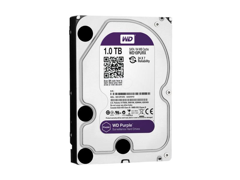 HDD-1TB, WD Purple 1000GB, 64MB cache, WD10PURX, Western Digital