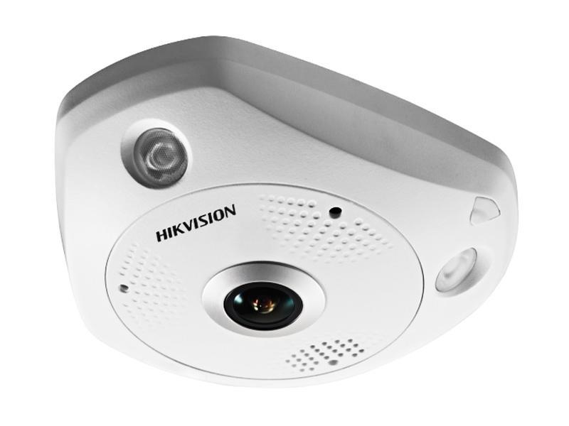 DS-2CD6332FWD-I, vnitřní fish-eye dome IP kamera 3 Mpx, f1.19mm, IR 10m, WDR, MicroSD, Hikvision
