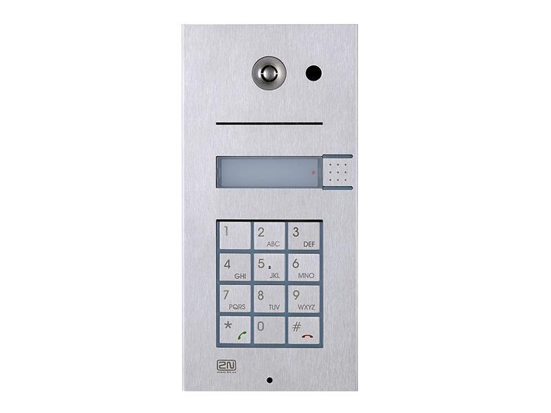 9137111CKU, 2N Helios IP Vario, 1 tlačítko + kamera + klávesnice