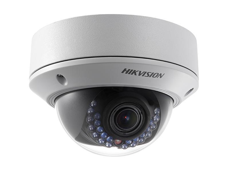 DS-2CD2710F-I, venkovní varifokální antivandal dome IP kamera 1.3Mpx, f2.8-12mm, IR 20m, Hikvision