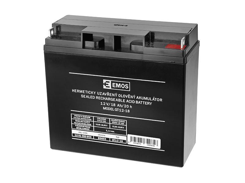 Akumulátor 12V / 18Ah, rozměr: DxŠxV = 181x76x167 mm