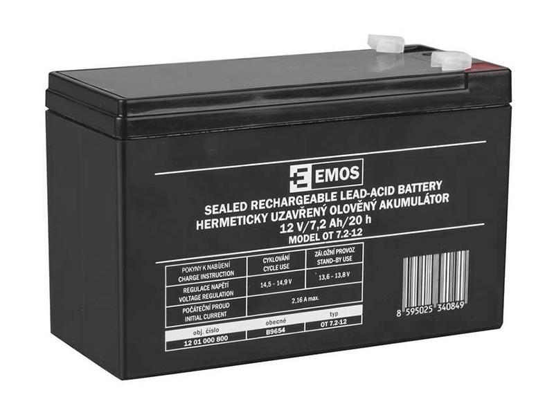 Akumulátor 12V / 7Ah, rozměr: DxŠxV = 151x65x102 mm